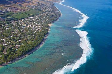 La lagon de la Réunion sur la côte ouest