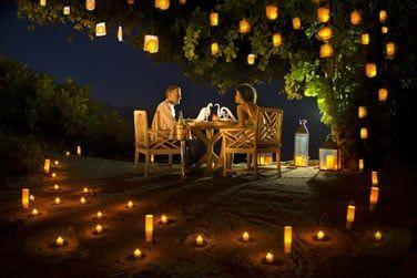 Ou bien un dîner romantique à la belle étoile...