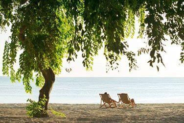 Un pur moment de détente face à un décor paradisiaque...