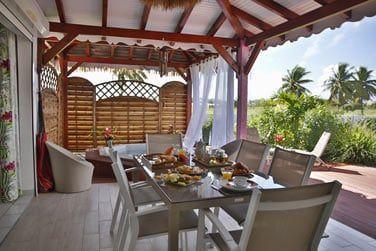 Une terrasse agréable en journée...