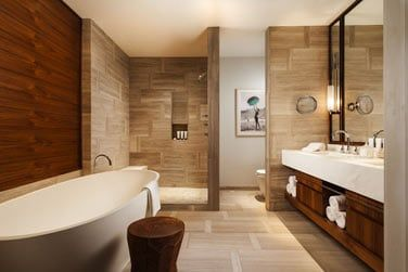 La toute nouvelle salle de bain des Chambres vue Océan
