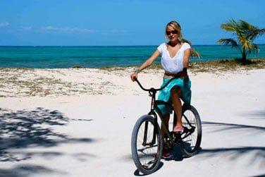 Le cœur de l'île se parcourt à vélos...