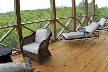 La terrasse spacieuse