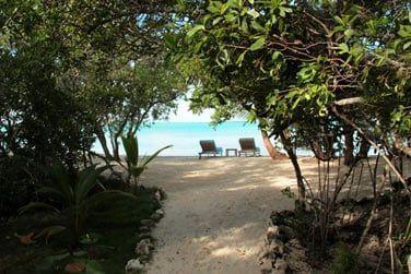 Accès plage en Pool Villa