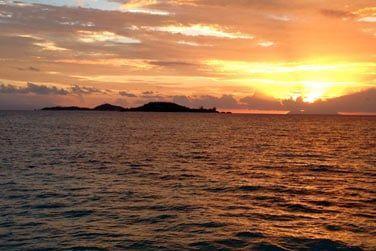 Au coucher du soleil, le site est magnifique...
