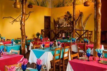Le restaurant et sa table réputée sur l'île