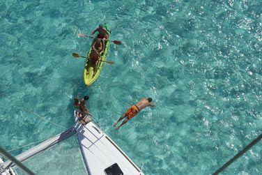 Ou emprunter un kayak de mer pour partir explorer les environs