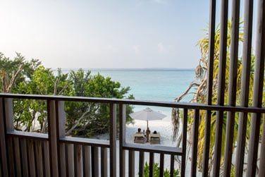 La vue depuis le balcon est des plus agréables...