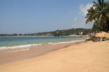 La plage d'Unawatuna est superbe !