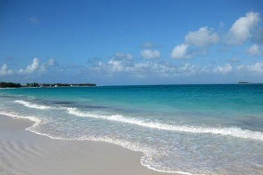 Non loin d'une superbe plage de sable blanc