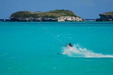 Les conditions sont idylliques pour la pratique de kitesurf