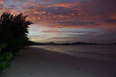 L'endroit est très romantique au coucher du soleil
