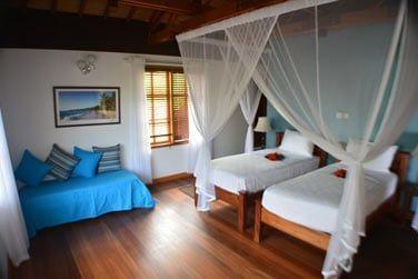 La villa 2 chambres avec lits jumeaux