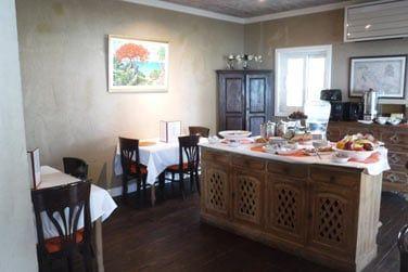 Le restaurant de l'hôtel, une atmosphère tranquille et intimiste