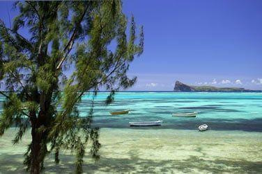 A Pointe aux Canonniers dans le nord de l'île Maurice