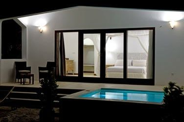 La terrasse avec piscine privée