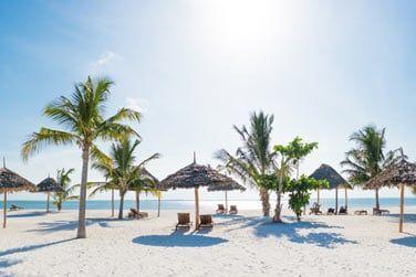 Farniente sur la plage de sable blanc...
