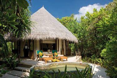 Les élégantes villas d'architecture maldivienne...