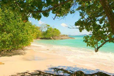 La petite plage tout près du resort