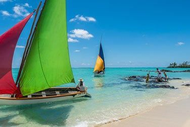 Un paysage paradisiaque et typiquement mauricien...