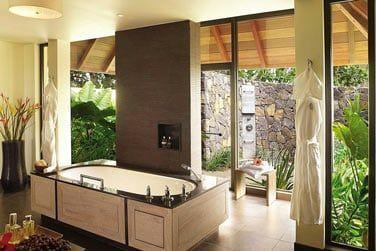 Salle de bain des villas Plage, Océan et Jardin