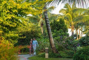 Promenez-vous au milieu des jardins tropicaux de l'hôtel