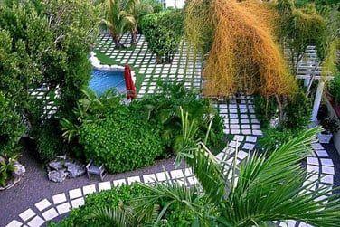 Promenez-vous dans les jardins tropicaux luxuriants