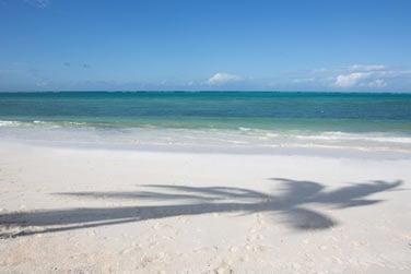 Superbe plage de sable blanc et eaux turquoise à perte de vue !