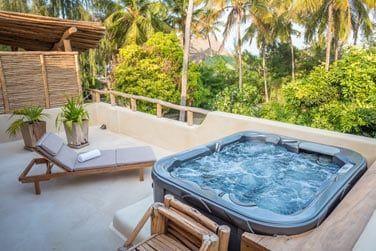 Le balcon avec jacuzzi... Le grand luxe !