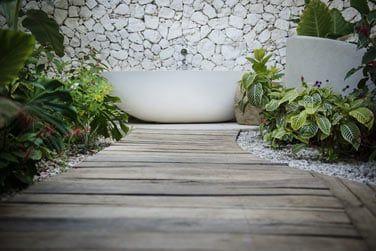 Et la baignoire extérieure