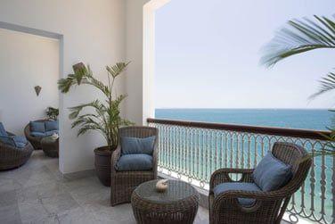 Le balcon offrant une superbe vue sur l'océan Indien