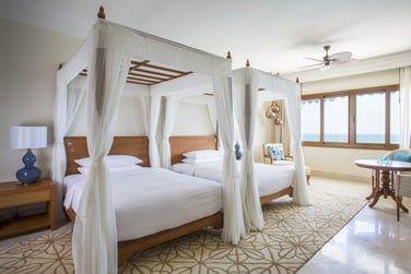 Avec lit double ou lits jumeaux
