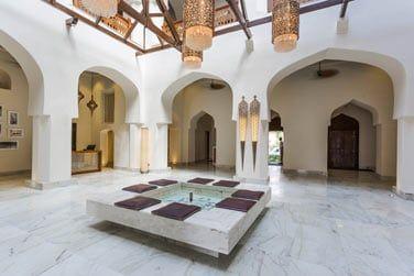 La réception et son design luxueux et authentique