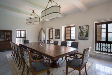 La salle à manger, élégante et raffinée
