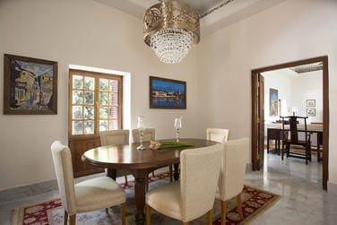 La salle à manger de la Suite Zanzibar