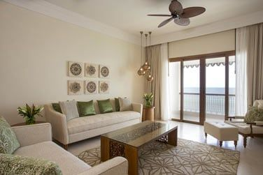 Le coin salon de la Suite Zanzibar