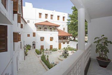 La cour intérieure de l'hôtel