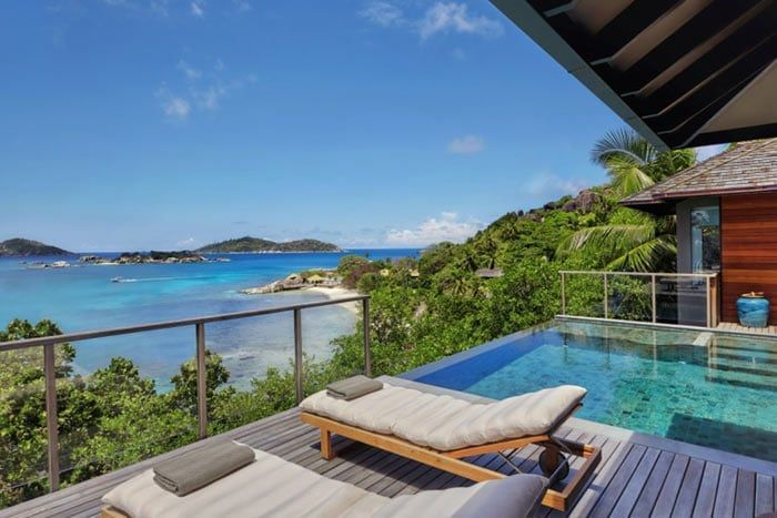 villa front de mer avec piscine