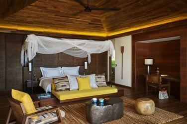 Une des chambres de la villa 2 chambres