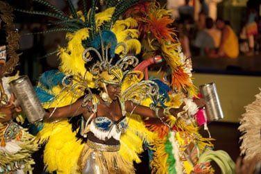 Ambiance très festive pendant le carnaval !