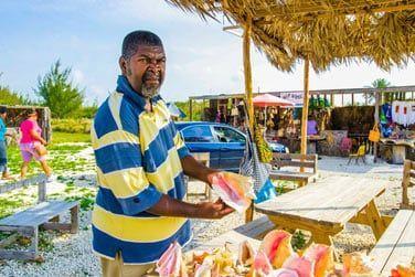 Le conch, fameux coquillage des Bahamas