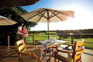 Le Swing Bar offre une vue magnifique du parcours du golf Links
