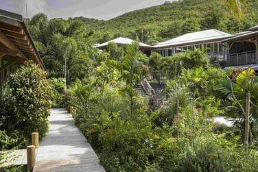 Situé sur la côte Atlantique de la Martinique...