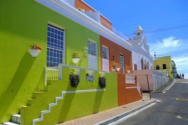 Les maisons colorées du quartier de 'Bo-Kaap'