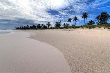 Les longues plages paradisiaques...