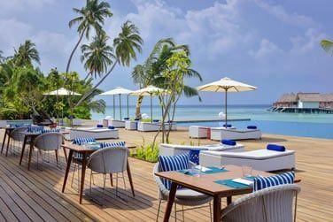 Le restaurant Vista situé juste au bord du lagon