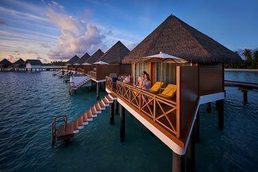 Les villas Sunset sur pilotis vous permettront de profiter des splendides couchers de soleil.