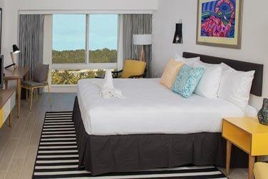Vous aurez le choix entre des chambres avec vue sur l'île