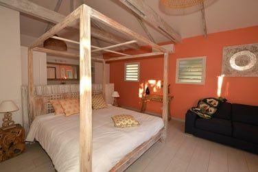 La chambre du bungalow Baie Rose
