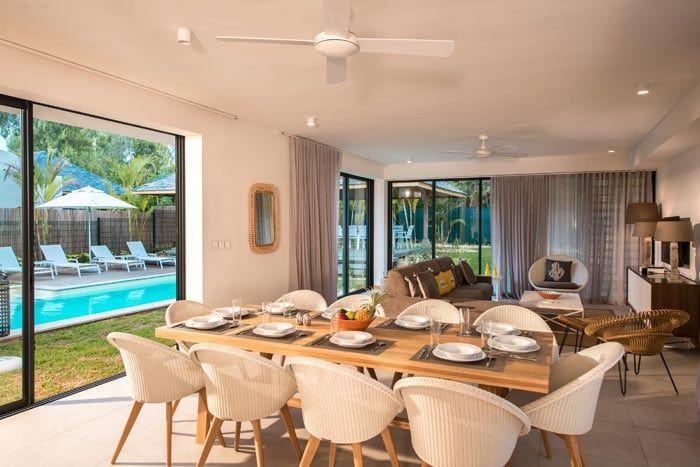 Photos marguery exclusive villas ile maurice for Coin salle a manger